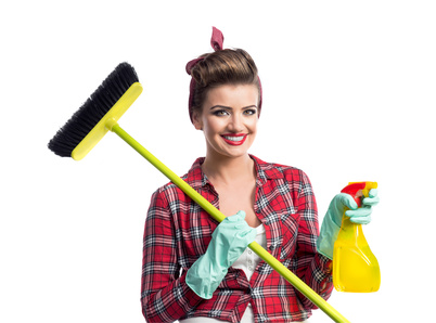Beautiful young cleaner